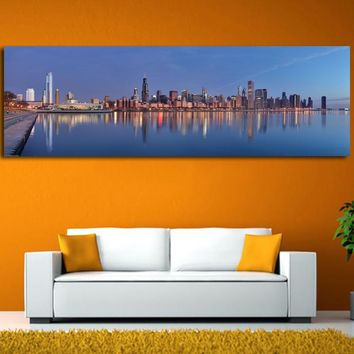 Canvas Chicago sunrise Modern Wall Pictures Lanscape Art