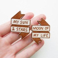 Game of Thrones Brooch Set - 'My Sun & Stars'