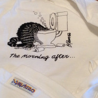 Vintage B Kliban Cat Party T Shirt Crazy Shirt Hawaii Party Cats The Morning After Toilet