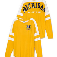 University of Michigan Pieced Varsity Crew - PINK - Victoria's Secret