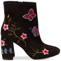 Nanette by Nanette Lepore Lilly Embroidered Booties | macys.com