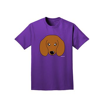 Cute Doxie Dachshund Dog Adult Dark T-Shirt by TooLoud