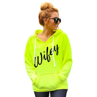 2016 Autumn Women Hoodies Sweatshirt Steetwear Letter Printed Hooded Sweatshirt Korean Loose Long Sleeve Women Pullover GV318