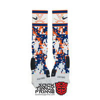 Custom Nike Elite Socks -  University of Virginia Cavaliers Custom Nike Elites - Virginia Socks, Custom Elites, Virginia Cavaliers, UVA