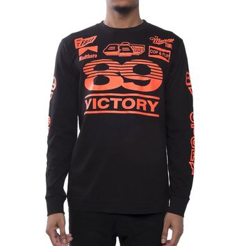 Victory Long Sleeve Racing Tee Black Infrared