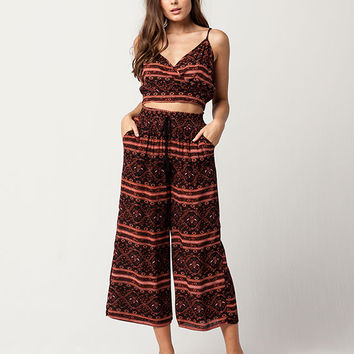 FULL TILT Linear Floral Cami & Pant Set | Sets