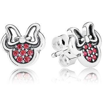 Authentic Pandora Jewelry - DISNEY Sparkling Minnie Earring Studs