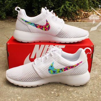 Nike Bel-Air Roshe One White Fresh Prince from DrippedCustomz on d9e9aa14372b