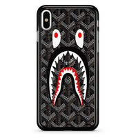 Shark Bape Goyard Black iPhone X Case