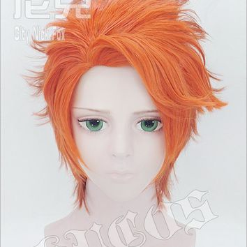 Free Shipping Fox Nick Wilde Cosplay Wig Heat Resistant Fibre Short Orange Anime Cos Hair Party Wigs