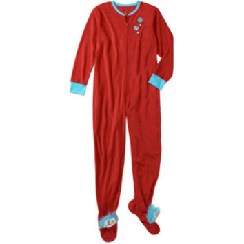Walmart: Women's Thing 1 2 3D One-Piece Hooded Footie Pajamas