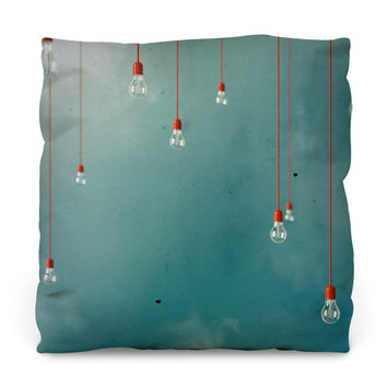 Red Edison Throw Pillow