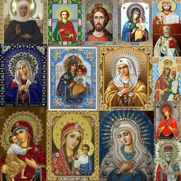Mosaic 5D DIY Diamond Painting Religious Icon Home Decoration Diamond Embroidery Classic Style Square Rhinestone Painting