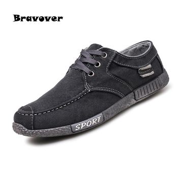Mens Casual Shoes Lace Up Comfortable Canvas Plimsolls Men Shoes Denim Lace-Up shoes Hombre Zapatillas