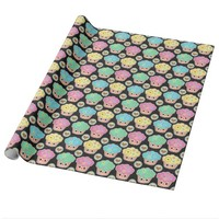Cute Cupcake Lover's Blackboard Wrapping Paper