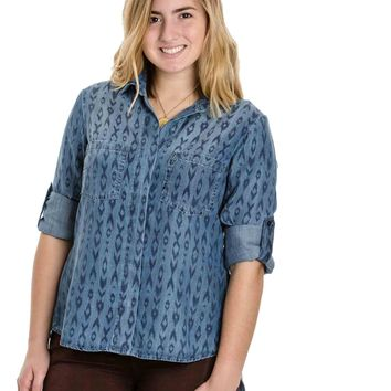 Aztec Print Button Down By Bella Dahl