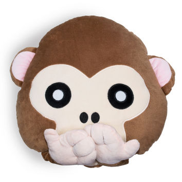 Monkey Emoji Pillow