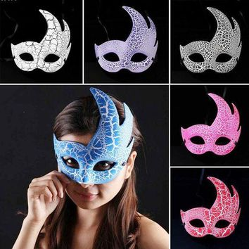 ESBONHS Halloween Masquerade Party Mask Half Face Venice show Flame Crack mask Male Female Party Decor accessories hxf A803