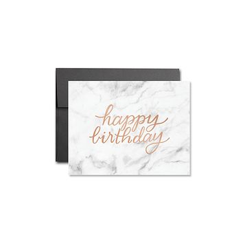 HEARTSWELL MARBLE HAPPY BIRTHDAY CARD