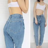 Europe and the new Dongyu Zhou with retro waisted Jean Haren pants jeans 1886