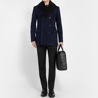 Burberry London - Shearling-Collar Peacoat | MR PORTER