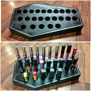 Coffin Lipstick Holder, Organizer MADE TO ORDER, Coffin, Makeup, Lipstick Holder, Makeup Organization