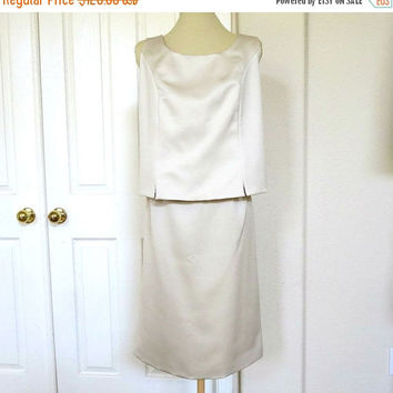 Oleg Cassini Skirt & Sleeveless Top Set - Black Tie Collection – Bride or Mother of the Bride Vintage 1978