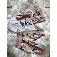 Personalized Newborn Baby Girl Coming Home Outfit