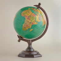 Blue Globe on Bronze Stand - World Market
