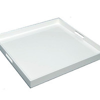 Large Square Serving Tray 22 x 22 White