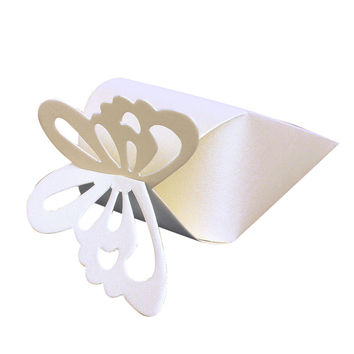 New High Quality 50 Pcs Cake Style for Wedding Party Baby Shower Butterfly Favor Gift Candy Boxes