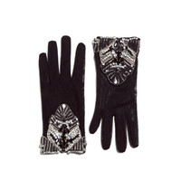 GLOVES WITH DIAMANTE