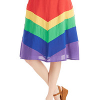 Bea & Dot Vintage Inspired Long A-line Day Laughter Day Skirt