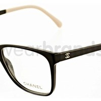 Chanel CH 3230 Chanel CH3230 1333 Black/Cream Chanel Glasses | Chanel Prescription Glasses from EyewearBrands