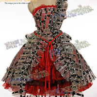 Alice in Wonderland Cosplay Alice Costume Outfit*4pcs