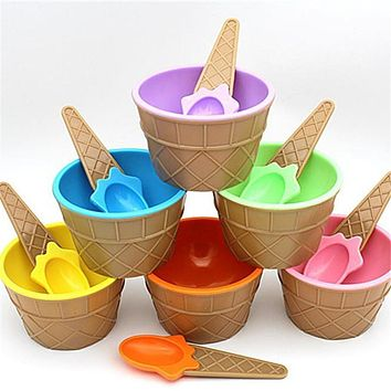 Zero 1 x ice cream bowl with a spoon 170504 A