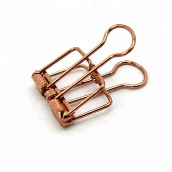 Gold Color Vintage Style Hollow Out Long Tail Clip / Binder Clip – 8pcs