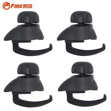 4 x Universal Car Roof Box Luggage Bag Mounting Clip Lock Holder Roof Rack Quick Mount Mighty Clips