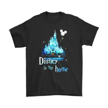 QIYIF Disney Is My Home Crystal Cinderella Castle Shirts