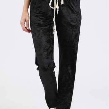 POL Yania Crushed Velvet Pants