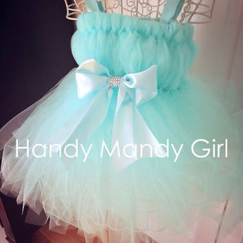 "The ""Carrie "" dress -Tiffany blue tutu dress ''tutu"" darn cute"