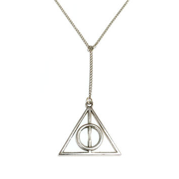 Deathly Hallows Lariat Necklace
