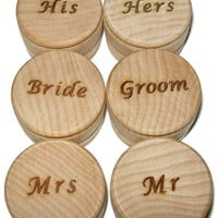 Engraved Ring Bearer Box, Ring Pillow, Wedding Bands Box, Wood Ring Box, Pillow Alternative, Bride Groom, His Hers, Mr Mrs