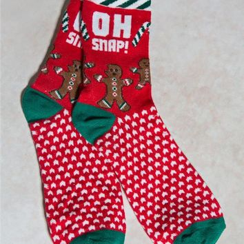 Oh Snap Gingerbread Socks