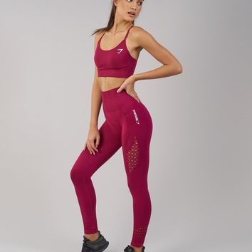 Gymshark Seamless Energy High Waisted Leggings - Beet