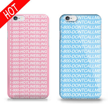 New Phone Case for iPhone 5s 6 6s Hotline Bling words Pattern design DIY Printing housing Covers For iPhone 6s 6 Plus 5S 5