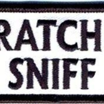 Scratch 'N Sniff Awesome Motorcycle Embroidered Funny Biker Vest Patch PAT-2678