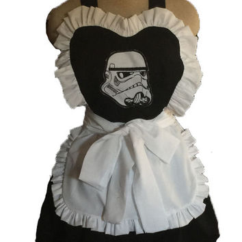 Star Wars Inspired French Maid Apron Ruffles Hostess Barmaid Retro Inspired Apron Tropper Adult Fun