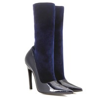 Balenciaga Women's Patent Leather Midcalf Booties Shoes