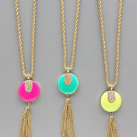 Theatre Nights Tassels Necklace - in 3 Colors